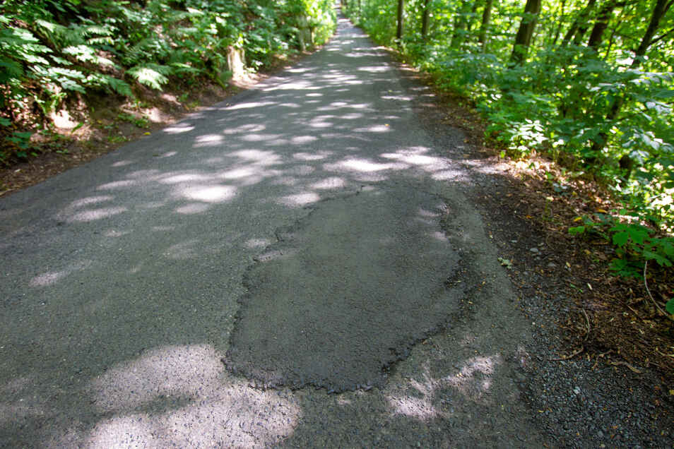 Die schmale Trasse ist Radweg und Straße zugleich.