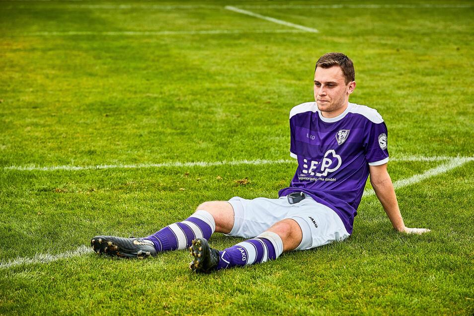 Sebastian Scholz wird in der Landesliga nicht mehr für den VfL Pirna-Copitz am Ball sein, sich aber zukünftig als Physiotherapeut um seine ehemaligen Mitspieler kümmern.