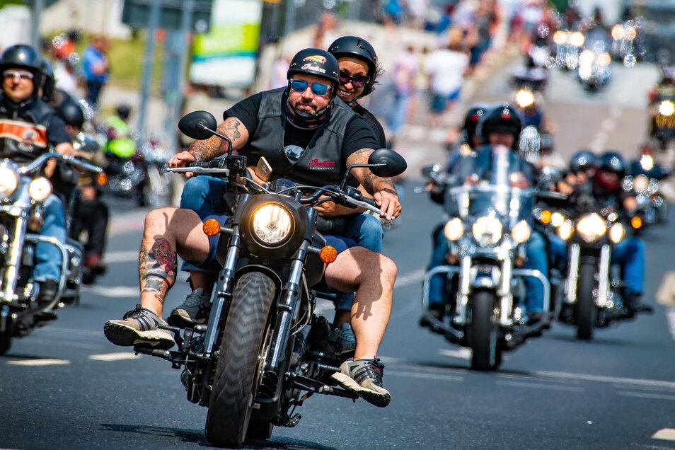 Die Dresdner Harley Days im vergangenen Jahr.