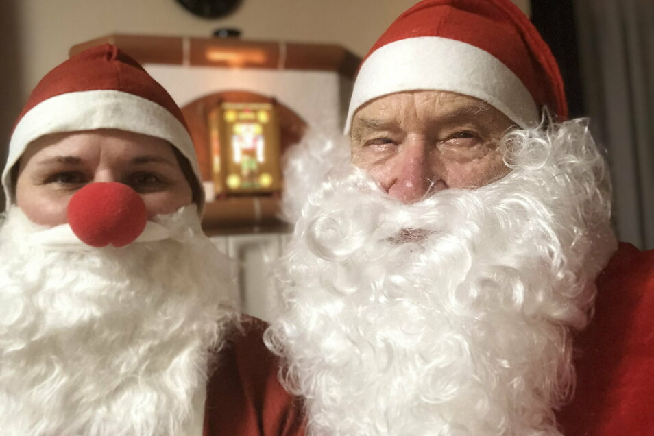 Weihnachtswichtel Birgit und Weihnachtsmann Günter haben einen außergewöhnlichen Wunsch eines Mädchens erfüllt.