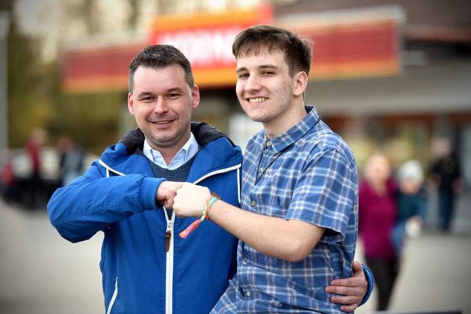 Daniel Schädlich (links) und sein Gastschüler Augusto Pioner haben sich bestens verstanden. Dennoch wurde der Aufenthalt vorzeitig beendet.
