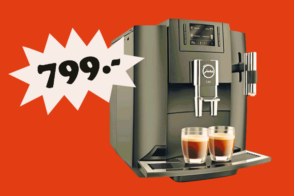 Jura E 80 Modell 2019 Kaffeevollautomat Pianoschwarz für 799 Euro¹