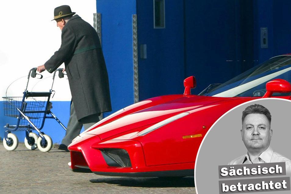 Künftig könnte es für jeden Bürger heißen: Ferrari statt Rollator. Die Zauberformel dafür scheinen jetzt unsere Politiker gefunden zu haben. Foto: dpa