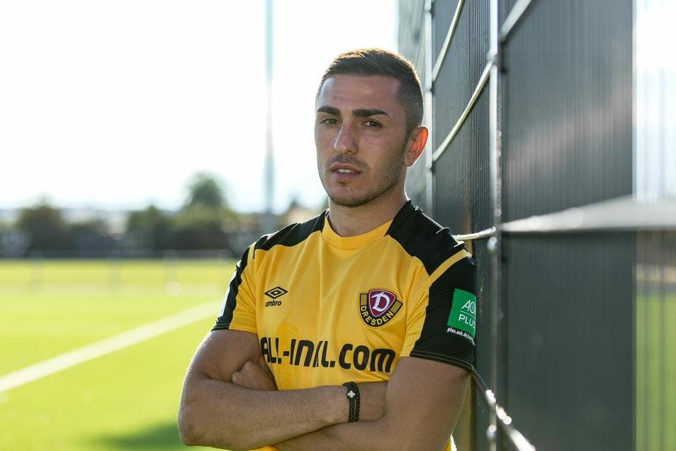 Der Georgier Guram Giorbelidze spielt künftig bei Dynamo Dresden.