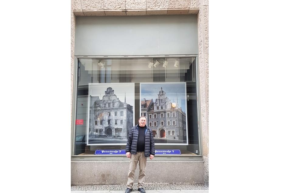 Fotograf Jörg Schöner zeigt seine Werke in den Schaufenstern des Görlitzer Kaufhauses.