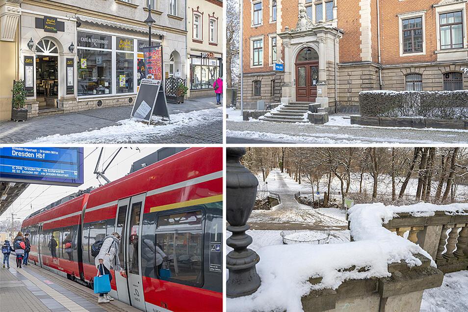 Einige der Tatorte: Vor einem Lokal an der Hauptstraße, am Polizeirevier, am Bahnhof Riesa sowie im Stadtpark kam es zu Beleidigungen und Schlägereien, in die der Angeklagte verwickelt war.