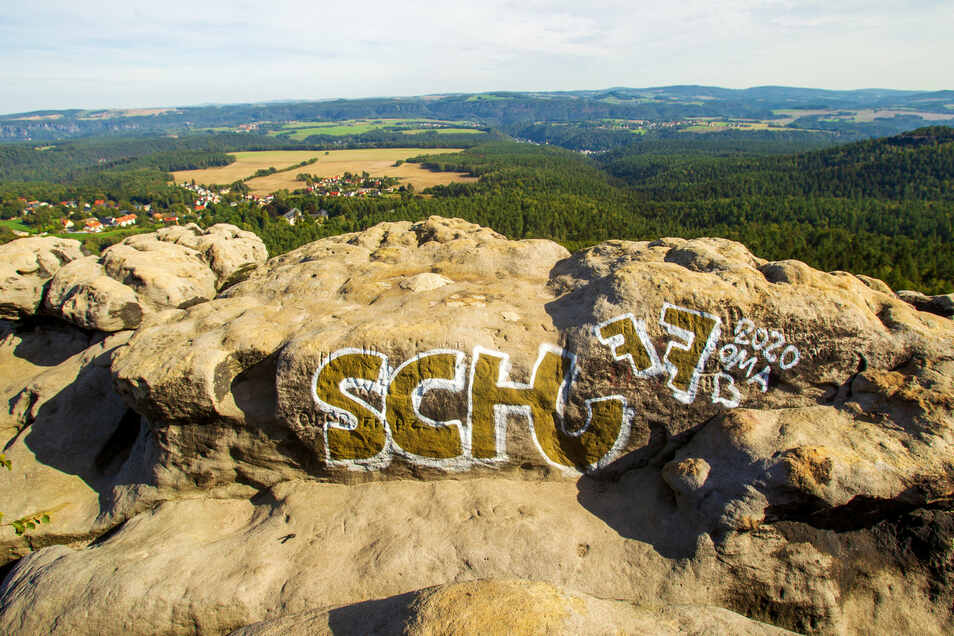 Das Graffito am Gohrisch bleibt länger.