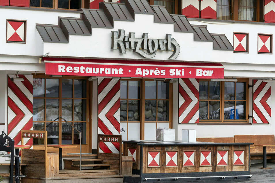 """Österreich, Ischgl: Das """"Kitzloch"""" ist eines der angesagtesten Après-Ski-Lokale des Ortes."""