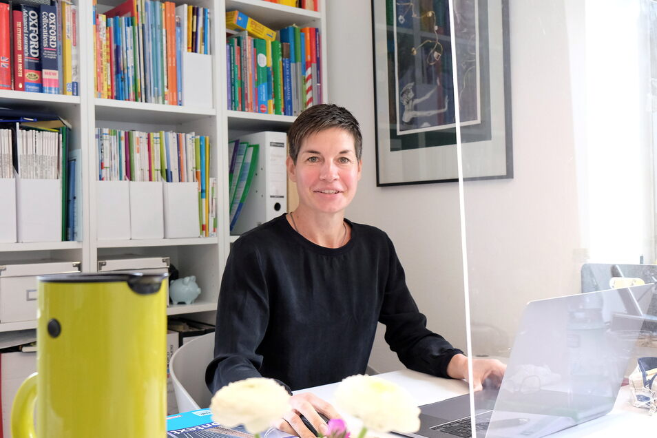 Juliane Eisenmenger hat ihren Sprachunterricht in Meißen unter Corona-Bedingungen komplett neu organisiert.