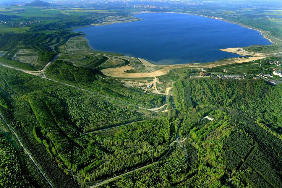 Blick auf den Berzdorfer See.