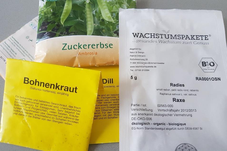 Bei Bekannten und in Gartenmärkten besorgte sich Henry Berndt noch Samen.