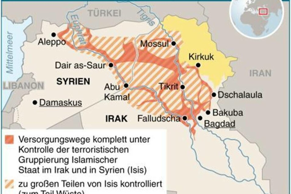 Binnen kurzer Zeit haben die Kämpfer der Isis große Teile Iraks unter ihrer Kontrolle gebracht.