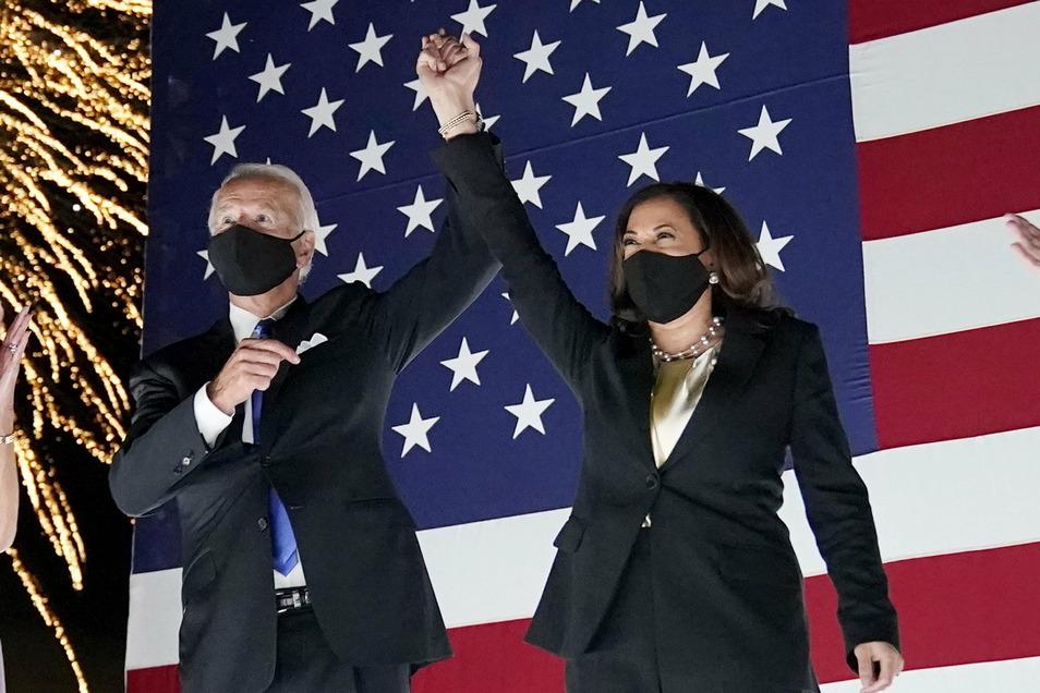 Joe Biden und Kamala Harris haben die US-Wahl gewonnen. Mit 78 Jahren ist Biden der älteste Präsident der USA. Harris ist die erste Frau und erste Schwarze als US-Vizepräsidentin.