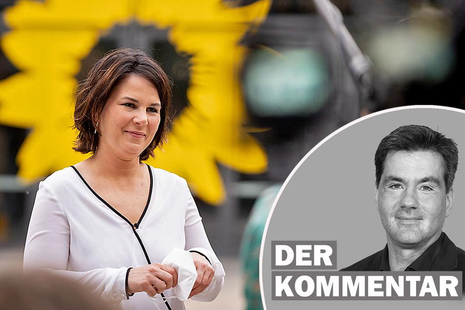 Annalena Baerbock muss sich im Wahlkampf unangenehme Fragen gefallen lassen.