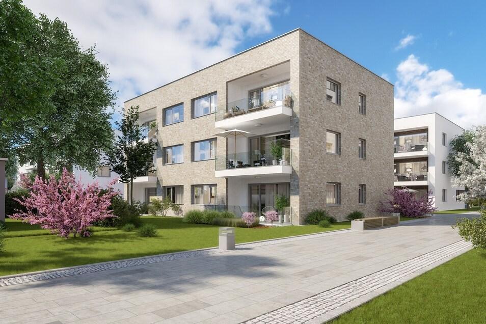 Im Hinterhof sollen drei dreigeschossige Neubauten mit Drei- bis Vierraumwohnungen entstehen.