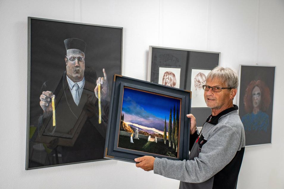 Ekkehart Stark zeigt in der Galerie in der Schlossstraße eine neue Ausstellung. Dabei beschäftigt er sich mit sozial- und gesellschaftspolitischen Themen.
