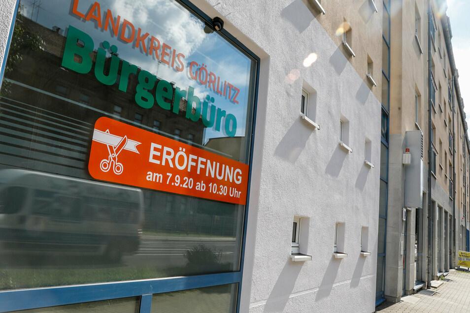 Das Bürgerbüro des Landkreises in Löbau an der Sachsenstraße.