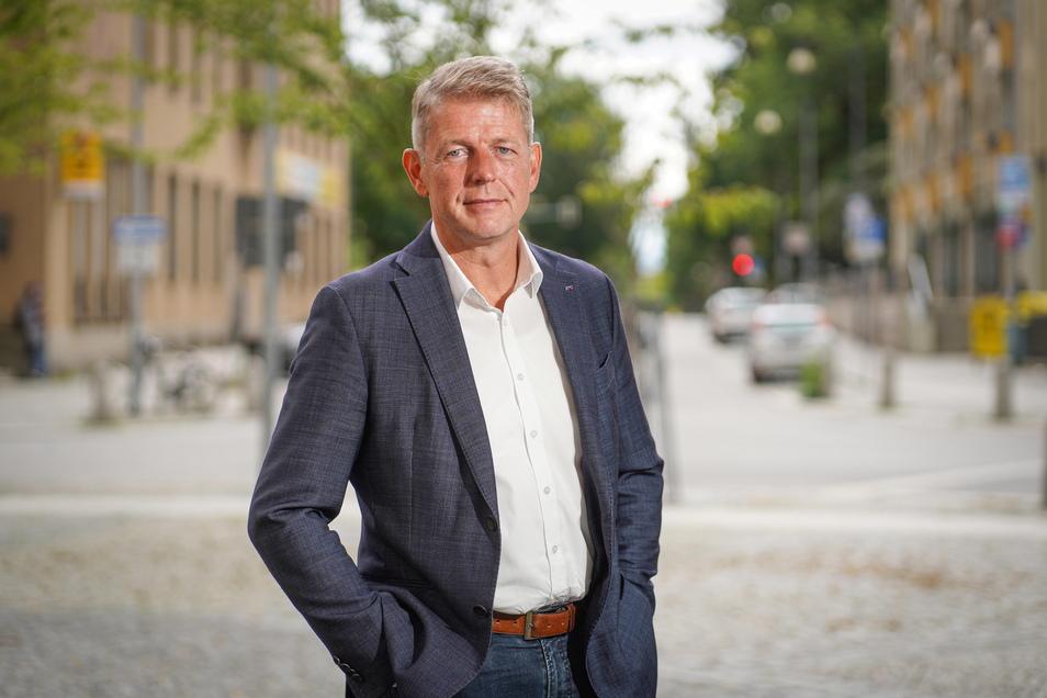 Karsten Hilse ist der Direktkandidat der AfD. Er hatte das Mandat 2017 errungen und ist seitdem Bundestagsabgeordneter.