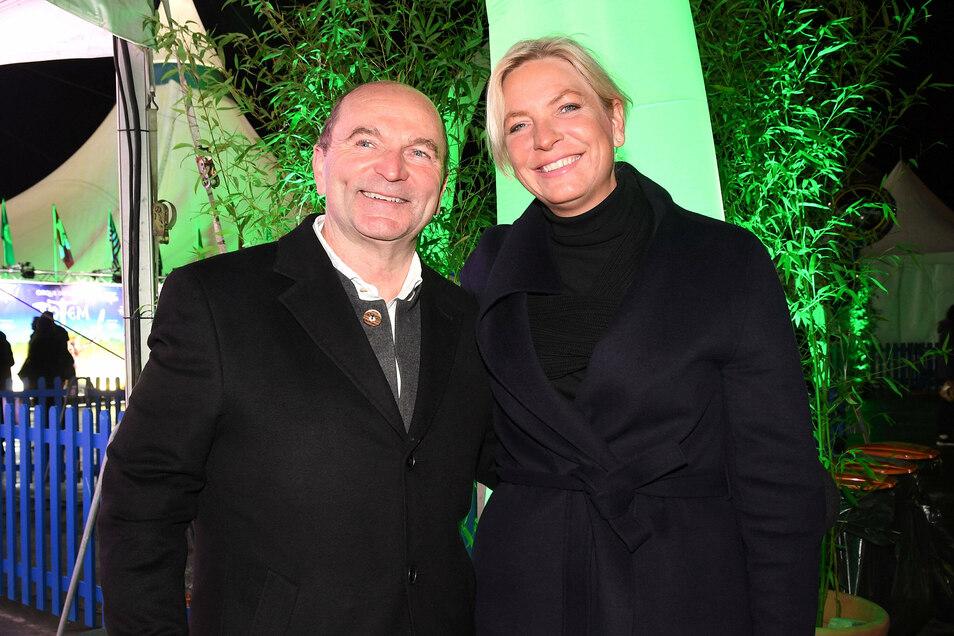 Josef Krätz und seine Frau Tina im Februar dieses Jahres beim Besuch einer Premiere im Cirque du Soleil in München.