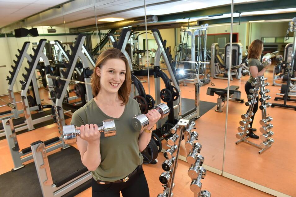 Nach sieben Monaten Zwangspause geht es auch für Fitnesstrainerin Sarah Müller im Freitaler Hains endlich wieder los.