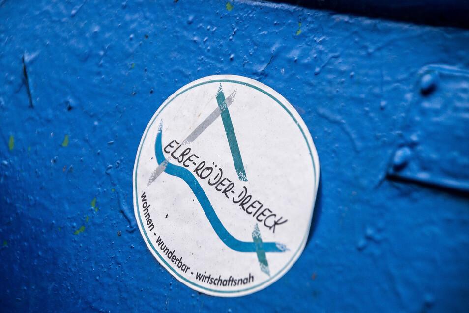 Das Logo der Gebietsgemeinschaft Elbe-öder-Dreieck in Glaubitz.