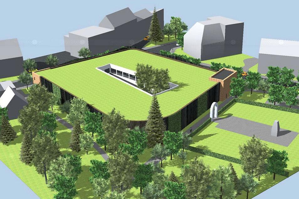 Auch dies soll das Parkhaus erhalten: ein begrüntes Dach sowie Baumpflanzungen im Innenhof-Bereich. Auch im Umfeld ist es geplant, neue Bäume zu setzen und bereits vorhandene Bäume soweit als möglich zu erhalten.