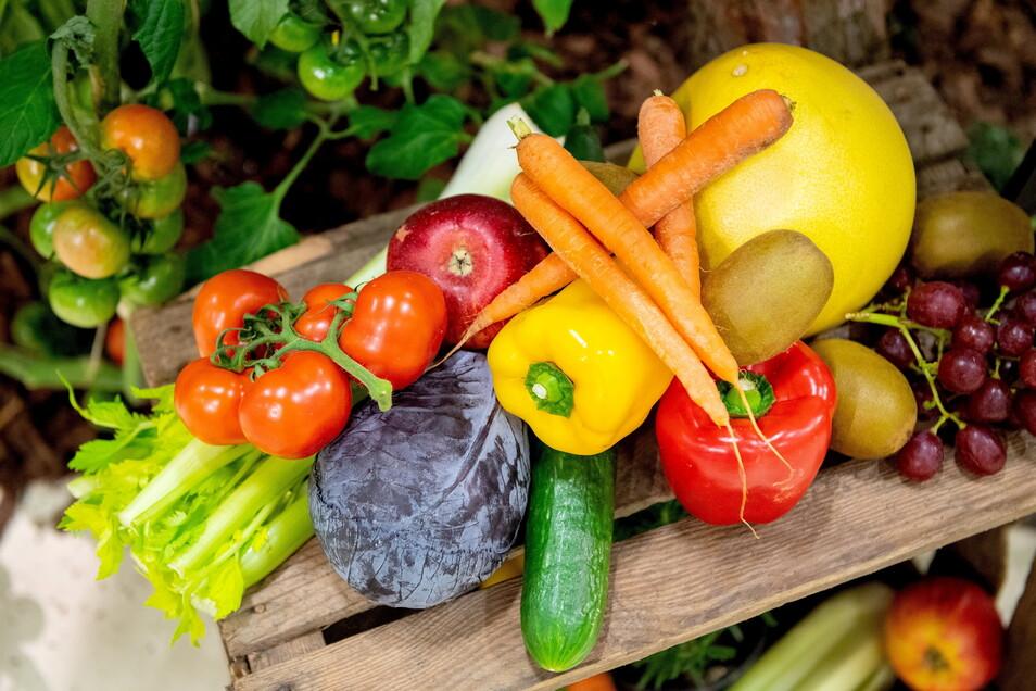 Obst und vor allem viel Gemüse sind ein wichtiger Bestandteil von einer gesunden Ernährung.
