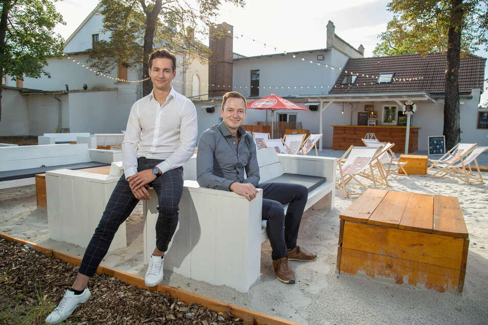 Die Pächter der 2 Linden: Florian Herbst und Robert Schulze. Das sie so einen Ärger haben würden, hatten sie nicht erwartet.