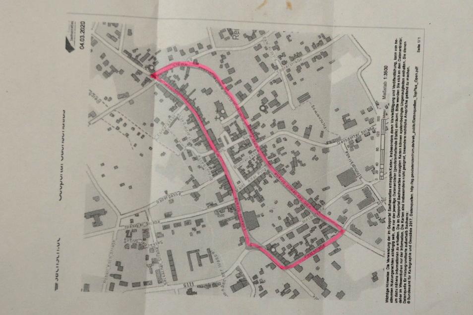Auf diesen Straßen soll das Tempo gedrosselt werden. Eine Karte mit den betroffenen Straßenzügen lag dem AfD-Brief bei.