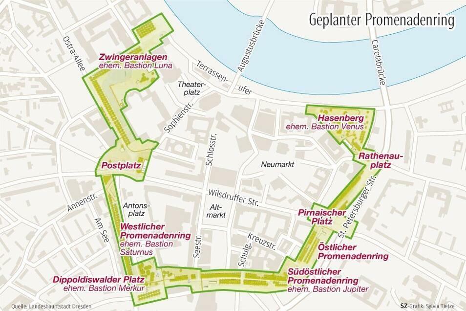 Der grüne Promenadenring soll die Altstadt umschließen, wenn er fertig ist.
