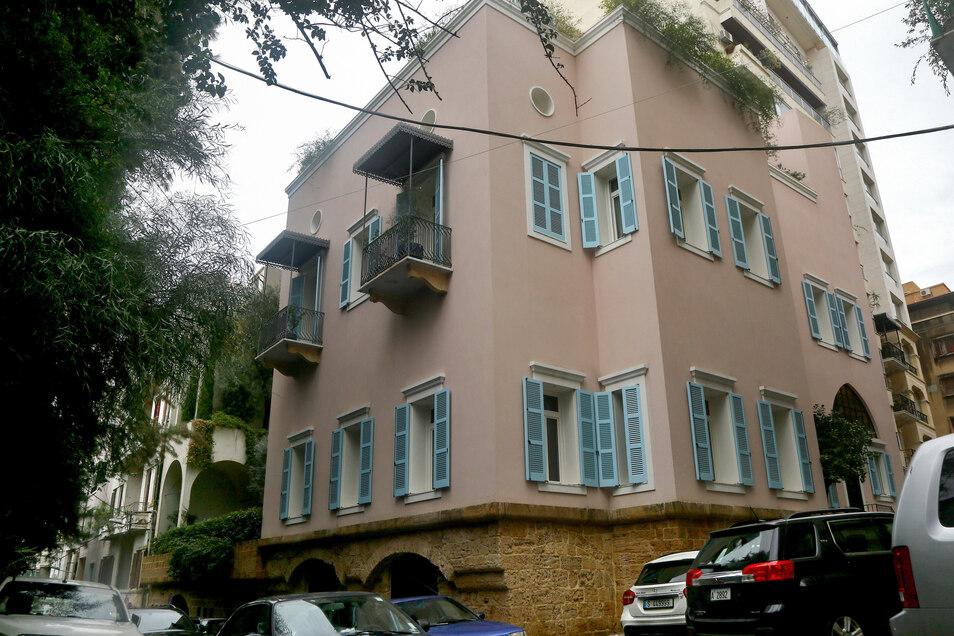 Das Haus des ehemaligen Nissan-Vorsitzenden Ghosn in der libanesischen Hauptstadt.