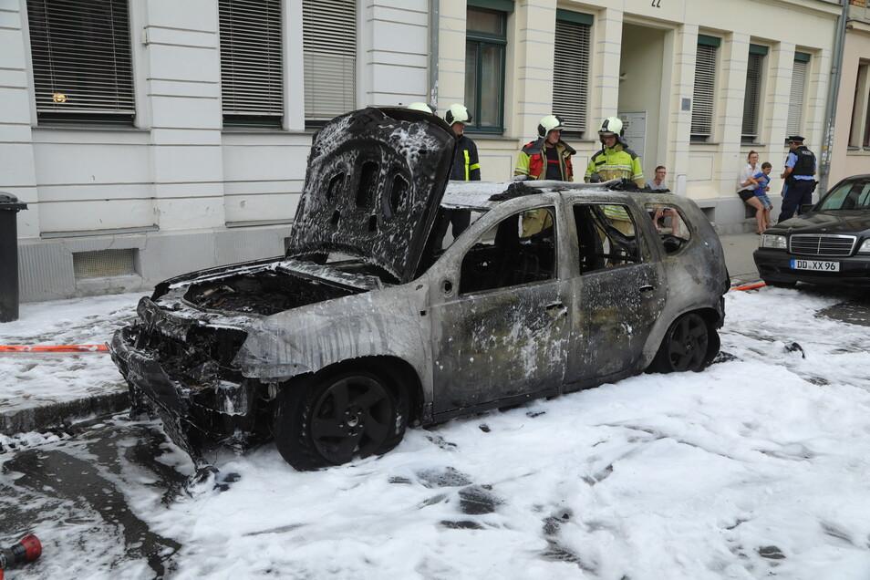 Retten konnte sie den Dacia aber nicht mehr.