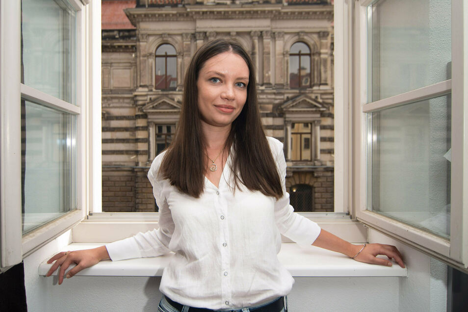 Als Studentin wohnte Maria Burnaeva in Neumarkt-Nähe. Ihre Nachbarn: die neuen Meister im Albertinum.