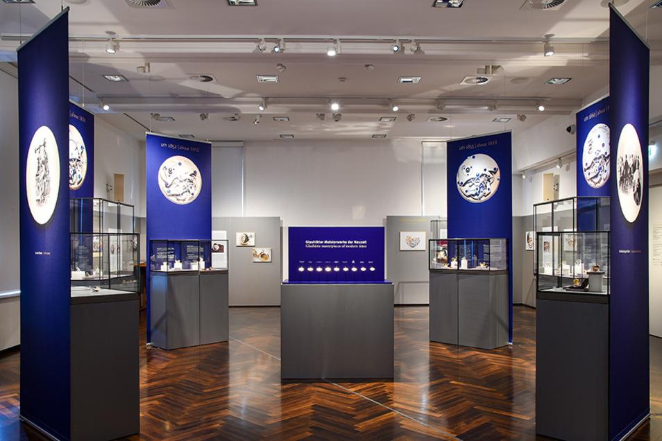 In der Ausstellung werden die wichtigen Eigenschaften der Glashütter Uhren erklärt.