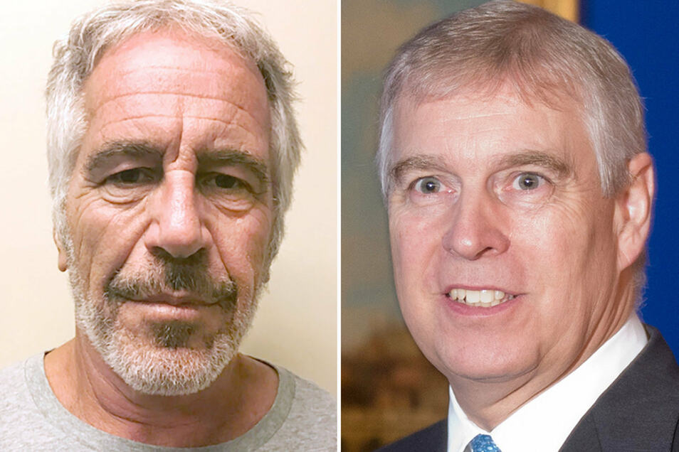 Jeffrey Epstein(l.) und Prinz Andrew, Herzog von York