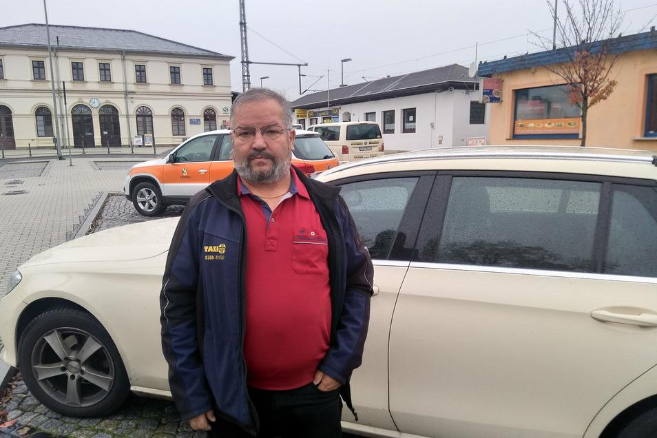 Andreas Urban, Vorstand der Taxigenossenschaft Pirna: Derzeit etwa 50 Prozent Umsatzverlust.