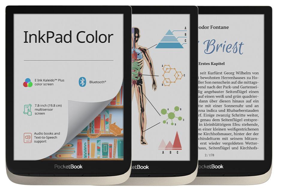 Auf dem 7,8-Zoll großen farbigen Bildschirm lassen sich Grafiken, Bilder und Text gut erkennen.