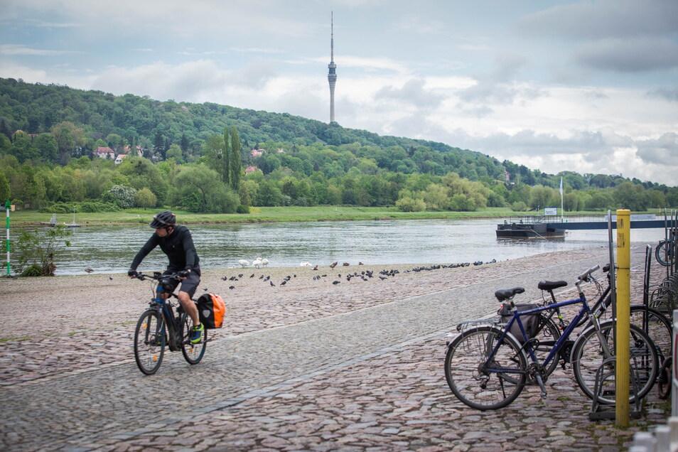 Mit dem Parkplatzverbot soll der Weg entlang der Elbe sicherer werden, sowie zur Naherholung einladen.