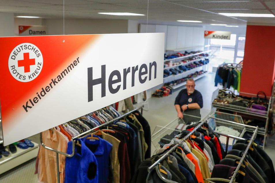 Die Kleiderkammer des DRK an der Oststraße in Zittau ist wieder offen.