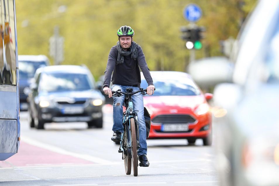 An Kreuzungen kommt es immer wieder zu Unfällen zwischen Radlern und Autofahrern.
