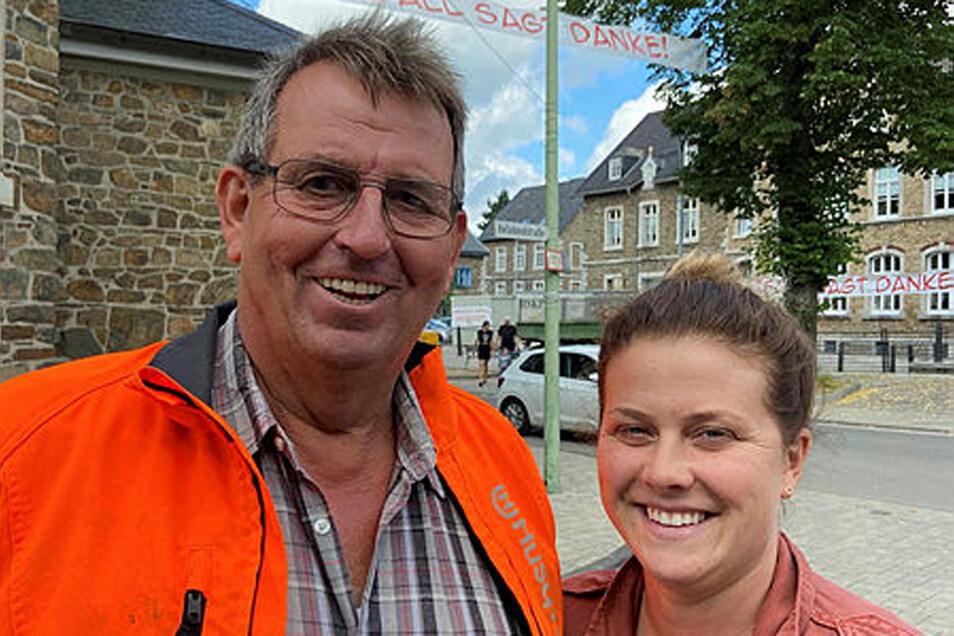 Christina Bungenberg und Heinz-Gerd Braun organisieren die Selbsthilfe in Zweifall,
