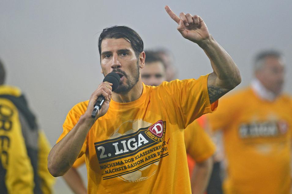 Cristian Fiel hat mit Dynamo als Spieler den Klassenerhalt zweimal geschafft.