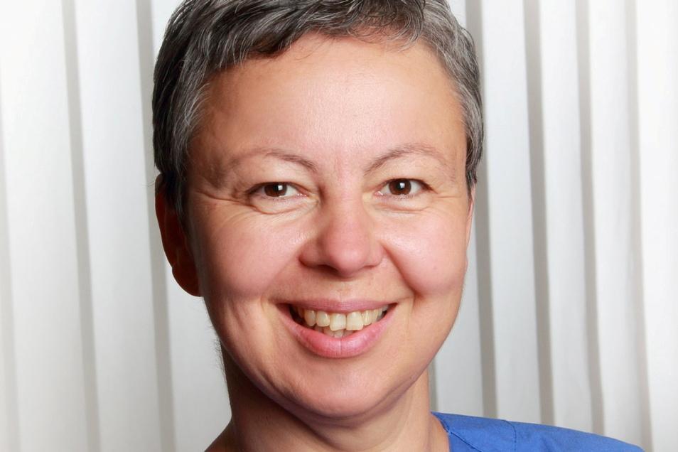 Kristin Rammel arbeitet in der Helios Klinik Schkeuditz als Hebamme und berät die Leisniger Eltern.