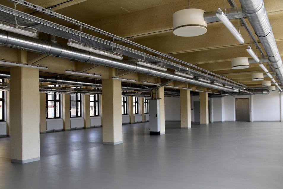 Blick ins Innere des Gebäudes an der Zwickauer Straße.