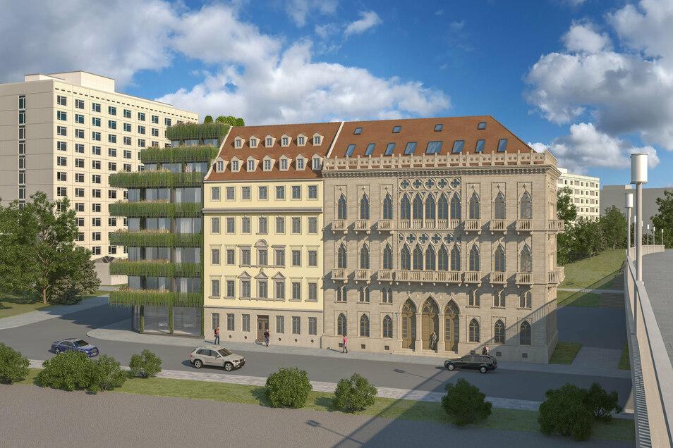 So soll das Ensemble Venezianisches Haus aussehen.