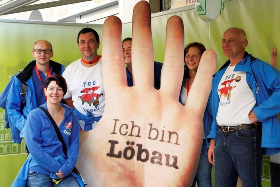 Der Torgauer Carneval Club macht Tourismuswerbung für Löbau.