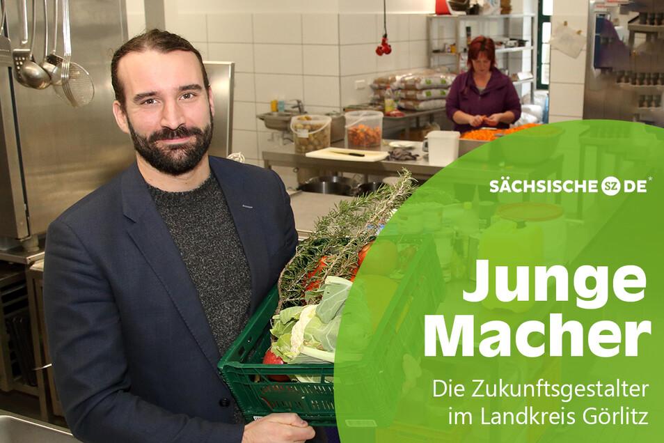 Jörg Daubner in der neuen Küche an der Obermühle, wo Essen für viele Görlitzer Kitakinder gekocht wird.