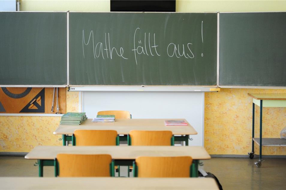 Unterrichtsausfall an sächsischen Schulen macht auch vor den Kernfächern nicht mehr halt.