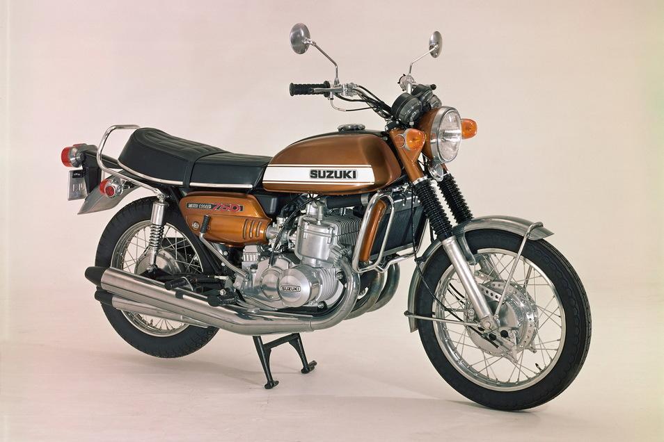 """""""Wasserbüffel"""" – diesen Spitznamen trug einst die Suzuki GT 750."""