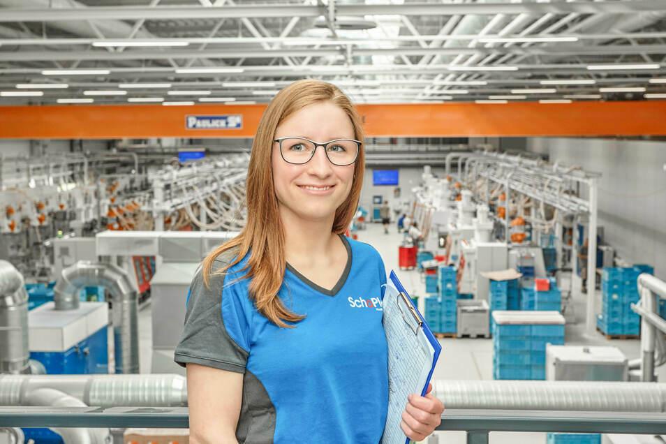Benita Ullrich arbeitet jetzt als Prozessingenieurin bei der Bischofswerdaer Firma Schoplast. Das Unternehmen nutzt vor allem das Internet, um junge Leute für eine Ausbildung zu gewinnen.